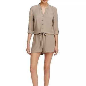 Eileen Fisher Project Silk Romper Tan Sustainable